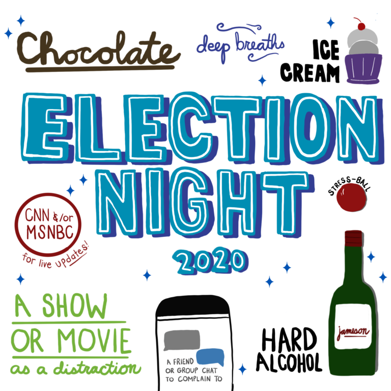 Election Night Activities Doodles and lettering